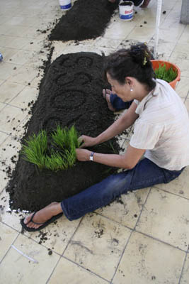 gross national happiness, bocor #1 cemeti art house yogyakarta, padi installation, part 2